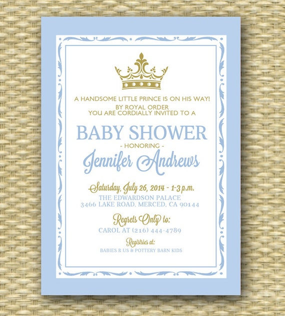 shower zkrqs princess little royal baby invitations card glitter faux invite browse