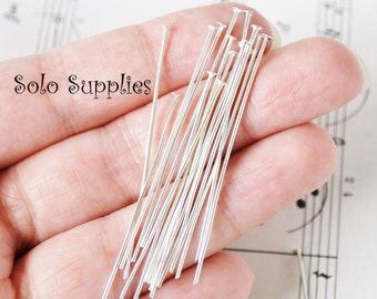 100 5cm Headpins in Silver Color