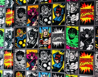 Marvel Characters Heads Fabric by the Yard