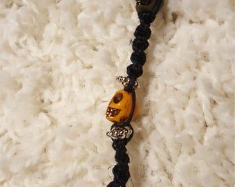 Skull/Rasta hemp key chain