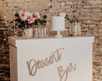 "24"" Laser Cut Wood Sign//Dessert Bar/Wedding/Birthday/Back Drop"