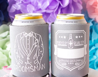 Groomsman Gift, Groomsman Can Cooler, Wedding Can Cooler, Be My Groomsman, Groomsman Proposal, Groomsman Beer, Bachelor Party Cooler