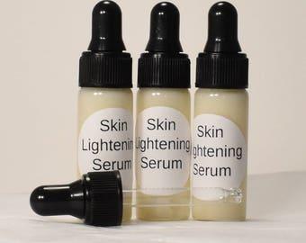 SAMPLE Skin Lightening Nourishing Serum 73% Org Age Spots, Acne Scars, Freckles & Pigmentation Correction MSM/Niacinamide/Vitamin C/Rosehip
