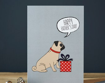 Pug Father's Day card