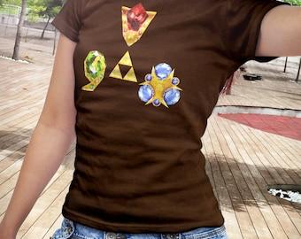T Shirt of my Ocarina of Time Legend of Zelda Spiritual Stones design art clothing design for Men and Women by Barrett Biggers