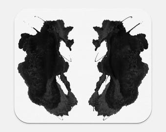 Inkblot Art Mousepad Rorschach Artwork Therapist Gift Office Decor