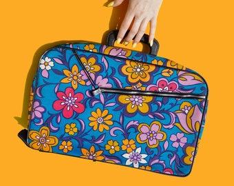 1960s Flower Power Mini Suitcase
