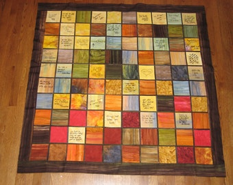 Wedding signature guest book quilt, custom made