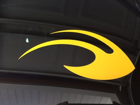 University of michigan wolverines winged helmet maize 6 car vinyl die cut decal from thevictorsstore on etsy studio