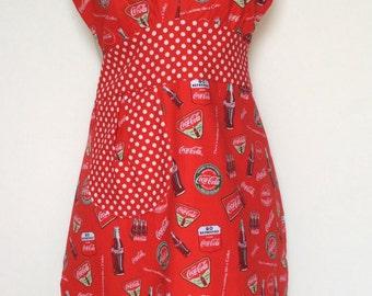 Ladies full retro Coca Cola apron