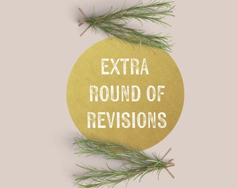 Extra Round Of Revisions - For Use With Invitations