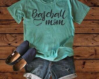 Baseball Mom Comfort Color Shirt- Baseball Mom - Baseball Shirt - Baseball Mom Shirt - Crazy Baseball Mom