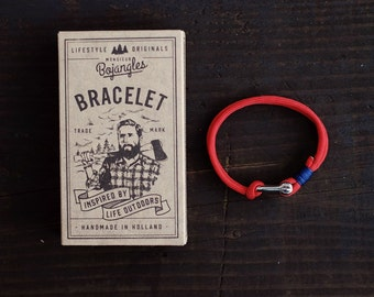 Handmade Paracord Sailor Bracelet/Armband Mens/Womens Red/Navy Blue