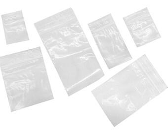 600 Ziplock Bags 6 Assorted Sizes Clear 2mil Baggies 1.5x2 2x2 2x3 3x3 3x4 3x5 (LZ 1.2 FRE)