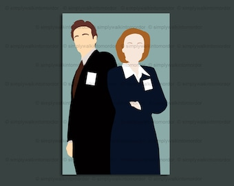 X files Mulder x Scully OTP print – Fox Mulder – Dana Scully – I Want To Believe – 6 x 4 art print