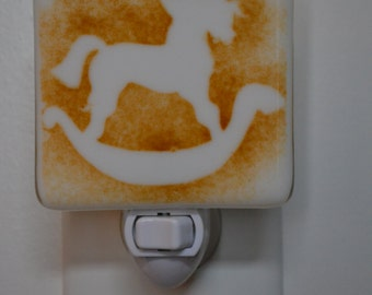 Rocking Horse Fused Glass Night Light