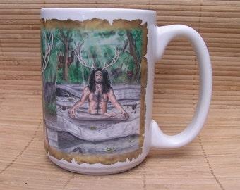 Cernunnos 15 oz coffee mug