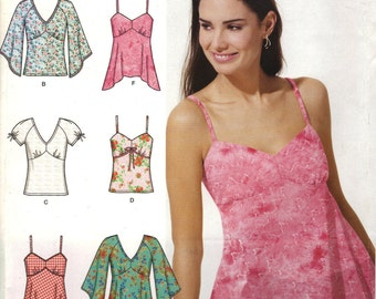 Simplicity Sewing Pattern 0661 - Misses' Summer Tops (14-20)