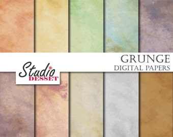 Grunge Digital Papers, Rustic Paper, Old Sheets, Watercolor Backgrounds for Scrapbooking, Invites A333