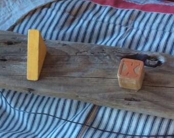 VINTAGE COAT HANGER driftwood craft, children clothes rack, ooak