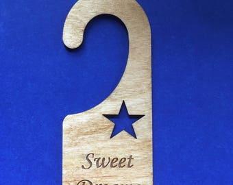 Wood Door Knob Hanger - Sweet Dreams