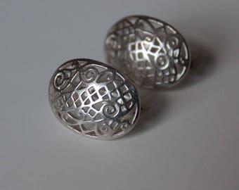Filigree Sterling Silver Earrings