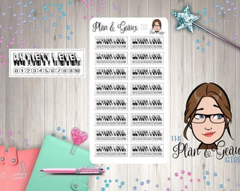 Anxiety Level Tracker Planner Stickers, Anxiety Tracker, Stress Level Stickers, Happy Planner, Bullet Journal,  FUN-398