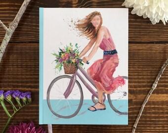 Girl On Bicycle Journal