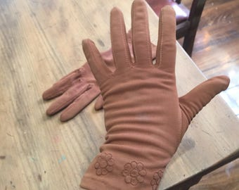 Brown ladies vintage gloves