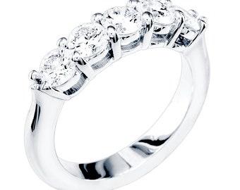Matching Diamond Wedding Band, 1.30CT in 14k White Gold