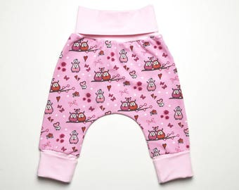 Baby pants newborn trousers owls