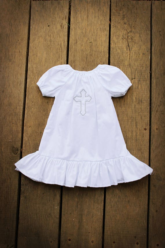 Baptismal Gown Christening outfit Cross Dress Baptism gown