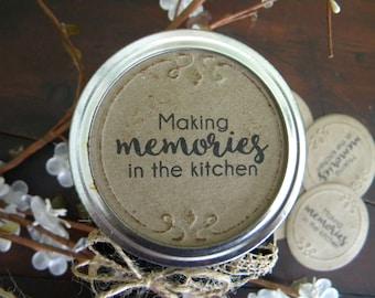 Mason Jar Labels, Jam Labels, Jar Stickers, Mason Jar Lid Inserts, Kitchen Stickers, Jar Tags, Canning Jar Labels, Making Memories