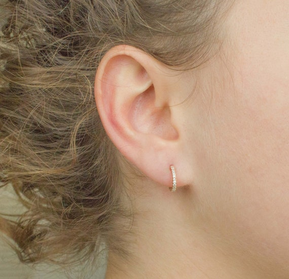 Tiny Gold Hoops Open Hoop Earrings Dainty Open Earrings