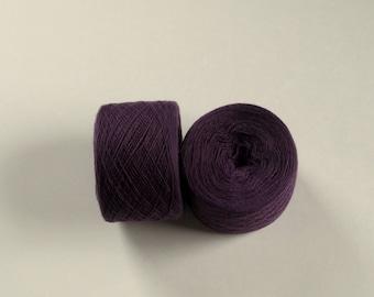 DUSTY PLUM Merino wool 3488 yards recycled yarn