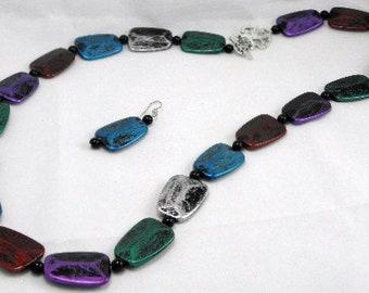 Jeweltone Iridescence Necklace Set