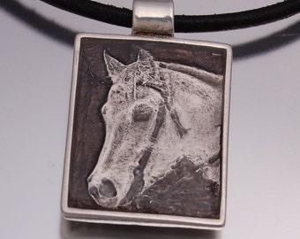 Personalized Photo Engraved Horse Pendant