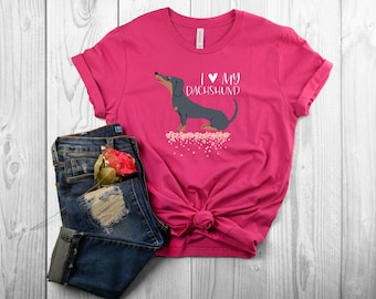 LIMITED EDITION I Love My Dachshund T-Shirt for Dog Moms