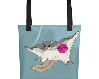 Lollipop Getaway (Flying Squirrel ) Tote bag