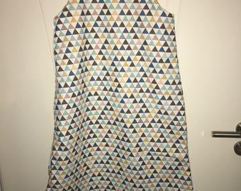 Sleeping bag or fabric and fleece sleeping bag