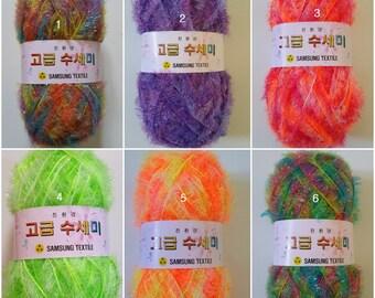 Korean Scrubber Yarn,Polyester yarn,Susemi yarn,Scrubbies yarn