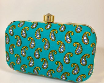 Printed Paisley Clutch/Sling Bag, Purse handbags evening bags Clutches