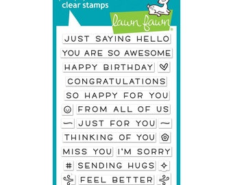 Lawn Fawn Clear Stamps - Simply Sentiments