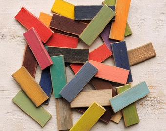 Color Chip Samples Distressed Finish Wood Paint Samples