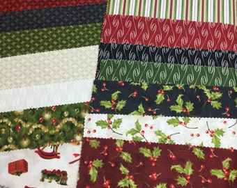 On Sale--Santa Claus 10 inch squares by Tom Browning for Maywood Studio