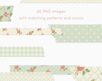 floral washi clipart, washi tape clipart, floral clip art, floral washi clip art, washi graphics, tape graphics, digital washi, flower washi