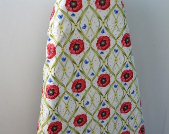 Ironing Board Cover - poppies with butterflies