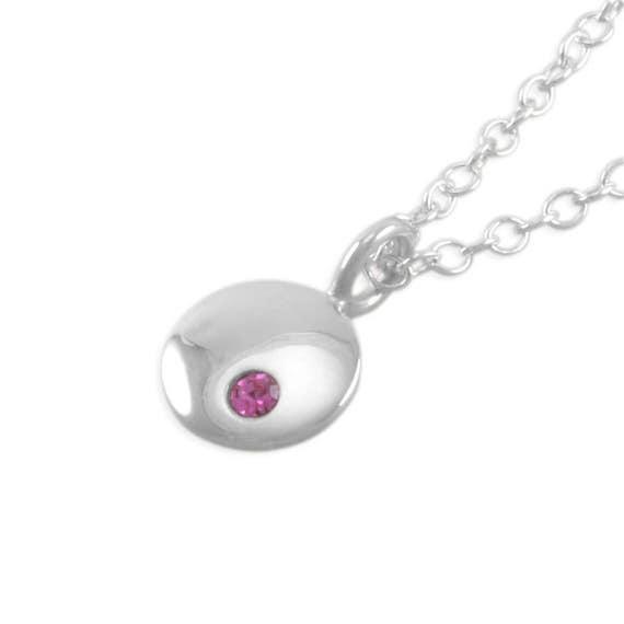 18th Birthday Necklace Sterling Silver Custom Birthstone: Little Girls Birthstone Necklace. Sterling Silver Birthday