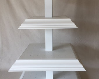 Large 4 Tier Square Custom Cake Pop Stand.  Holds 192 Pops!