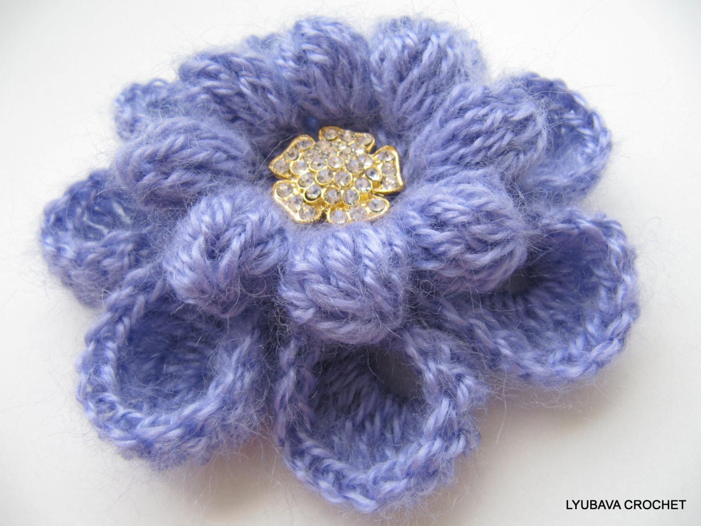 Crochet Flower PATTERN, Crochet Brooch Pattern, Flower Brooch ...